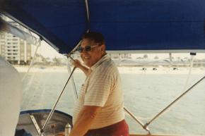 Senior on Boat