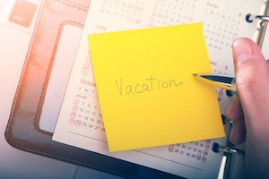 vacation note office