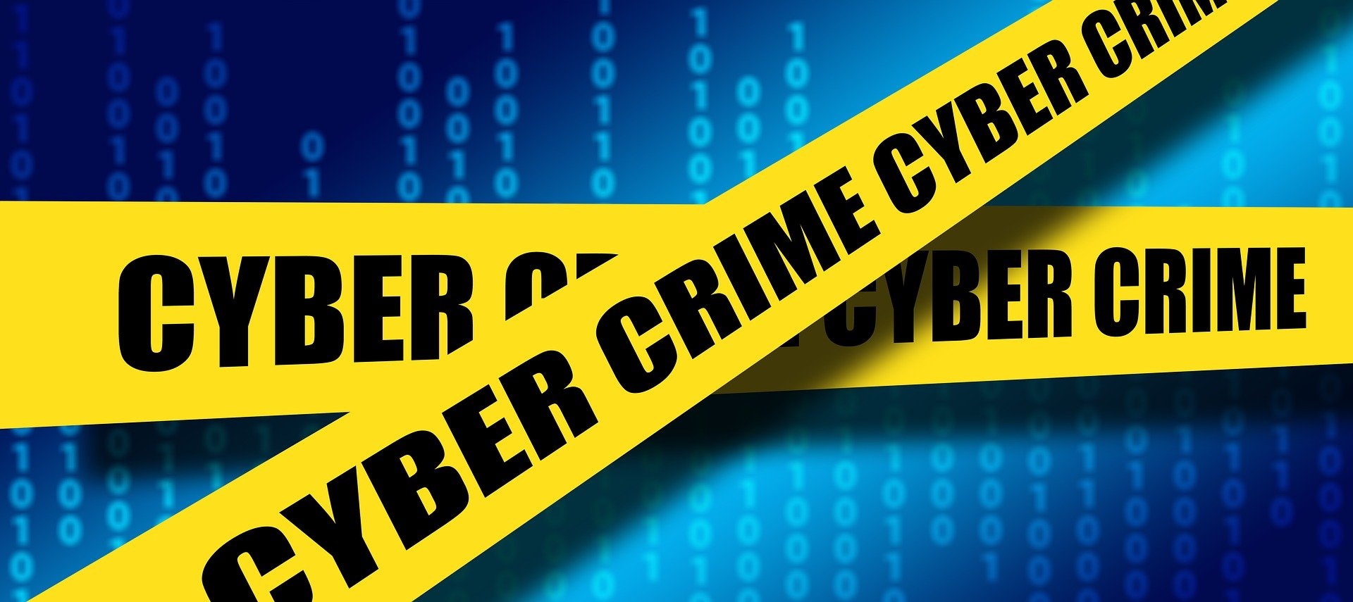 Cybersecurity crime tape